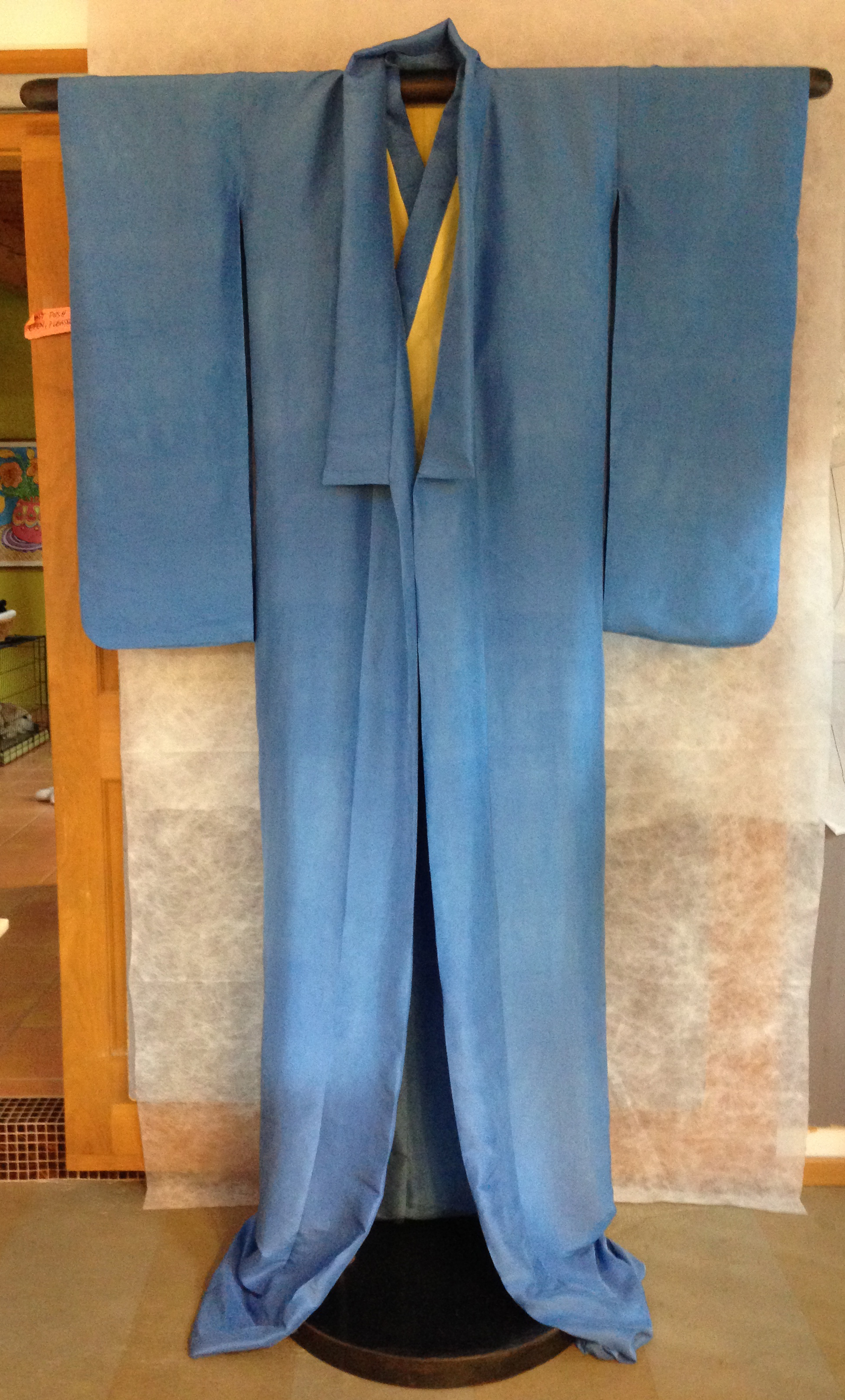 Silk kimono…check!